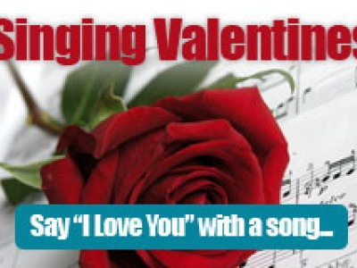 how about a singing valentine to your special someone the mainely music chorus is now taking orders for a fee of 3500 one of the chapters quartets will